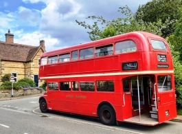 London bus for wedding hire in Rugby
